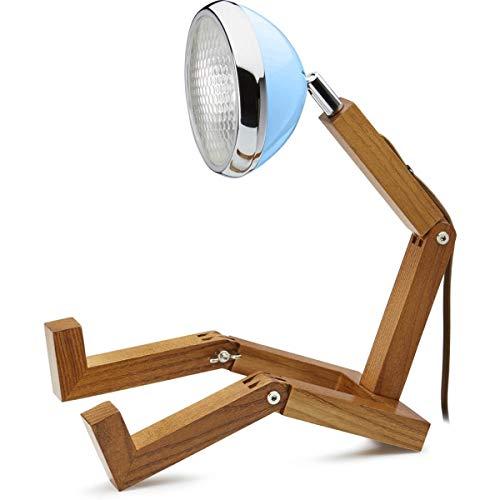 Mr. Wattson, die flexible Eschenholz Tischlampe in Old Havana blue - Aluminium mit LED Leuchtmittel [Energieklasse A+++]