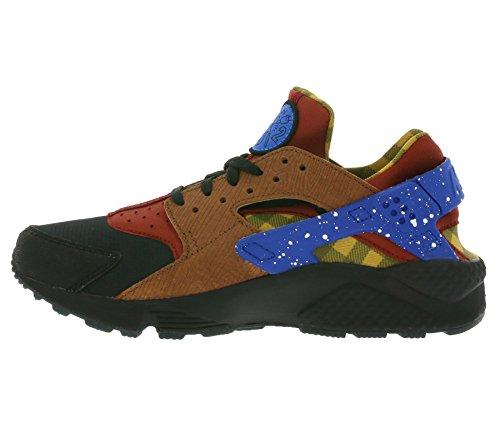 Nike Air Huarache Run Prm, Chaussures de Running Entrainement Homme Rojo (dark cayenne/blue spark-black-cognac)