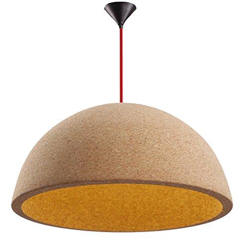 GRFH Retro Industrial Loft Schlafzimmer Wohnzimmer Pendelleuchten Designer Cork Halbkreis Schatten Umbrella Pendelleuchte E27 110V-220V