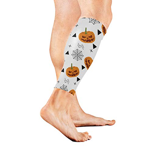 nd Halloween Urlaub Kalb Kompression Ärmel Bein Kompression Socken für Schienbeinschiene Kalb Schmerzlinderung Männer Frauen und Läufer verbessert die Durchblutung Erholung ()