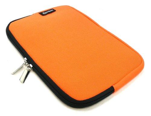 Emartbuy® Orange Wasser Resistant Neoprene Weich Zip Case Cover Tasche Hülle Sleeve Geeignet Für I.onik TP - 1200QC 7.85 Inch Tablet (8 -Zoll-Tablet)