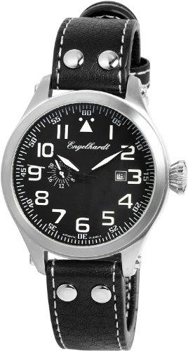 Engelhardt - 388721029011 - Montre Homme - Automatique - Analogique - Bracelet cuir noir