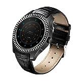 Xwly-sw Smart Watch 3G SIM Card WiFi GPS Android 4.4 Smartwatch mit Herzfrequenz-Monitoring-Pedometer NFC Video Music Player Bluetooth 4.0 für Männer und Frauen,Black