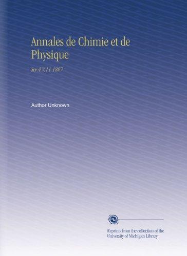 Annales de Chimie et de Physique: Ser.4 V.11 1867 por Author Unknown