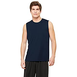 Allsport Medical Alo Men's Performance Poly Interlock Shooter T-Shirt, Sport Dark Navy, Large