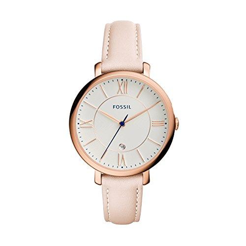 Fossil Damen Analog Uhr mit Leder Armband ES3988 -