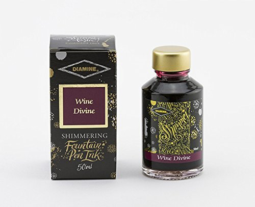 Diamine Tintenfass 50 ml Shimmer Tinte - Wine Divine