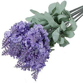 Ypypiaol 86/5000 artificiale lavanda fiore di seta mazzo nozze casa festa fai da te arredamento 10 teste light purple