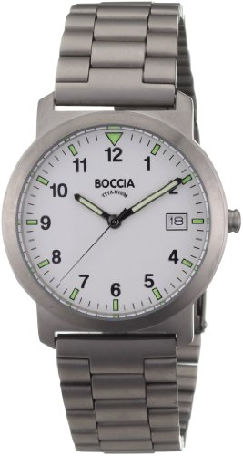 Boccia Herrenuhr Analog Quarz mit Titanarmband – 3545-01