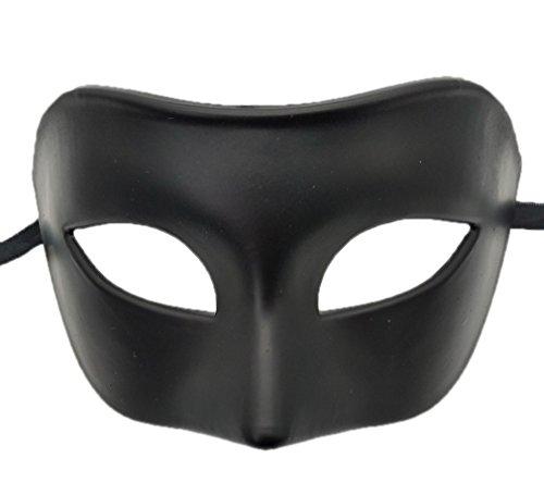 Coolwife Mens Maskerade Maske Griechisch RöMisch Partei Maske Karneval Halloween Maske (Schwarz)