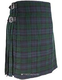 Pour Kilt écossais 5 m, Kilt Tartan Noir Taille cadre 30–48