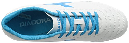 Diadora Herren 650 III TF für Fußballtrainingsschuhe C6087 BIANCO/BLU