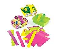 Un modo colorato per i bambini per decorare a Pasqua. 4 colori assortiti. Rende 12 cestelli in totale.
