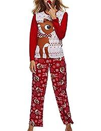 Conjunto de Pijamas Familiares de Navidad Dear Sleepwear Nightwear Camisas y Pantalones Casuales de papá y