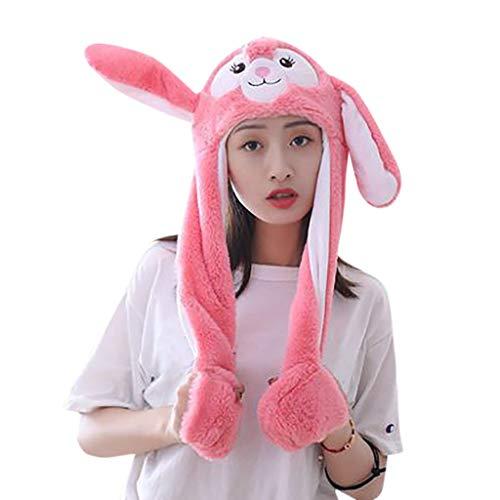 FeiBeauty Mädchen-Jungen-lustiger niedlicher Tierohr-Hut kann Pop-up Airbag-Magnetkappen-Plüsch-Geschenk bewegen Wintermütze