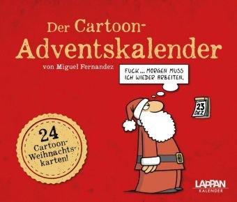 Der Cartoon-Adventskalender - Lappan-Verlag - Miguel Fernandez - Aufstellkalender mit 24 Cartoon-Weihnachtskarten - 19 cm x 15,5 cm