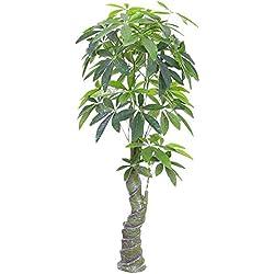 Decovego Pachira Glückskastanie Kunstpflanze Kunstbaum Künstliche Pflanze 150cm