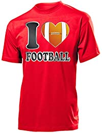 Sport - I LOVE FOOTBALL T-Shirt Herren S-XXL
