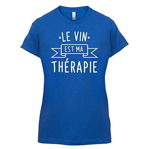 Le vin est ma thérapie - Femme T-Shirt - 14 couleur Bleu Royal