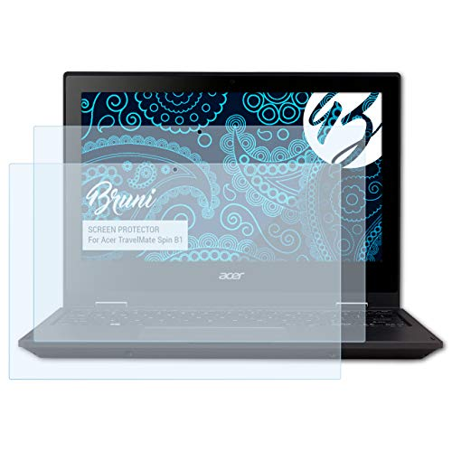 Bruni Schutzfolie kompatibel mit Acer TravelMate Spin B1 Folie, glasklare Bildschirmschutzfolie (2X)