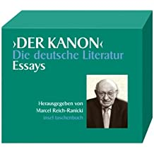 Der Kanon. Die deutsche Literatur. Essays: Fünf Bände und ein Begleitband im Schuber (insel taschenbuch)