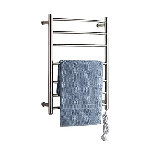 Elektrischer Handtuchhalter aus Edelstahl 304 Wandmontierter und freistehender Handtuchheizkörper im Badezimmer, 65W