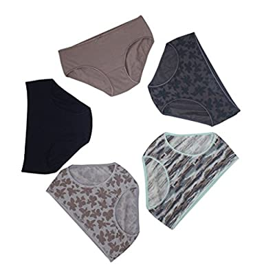 JULIET Easy Fit, Hipster Cotton Stretch Full Coverage Mid Waist Printed Panties ! Comfortable fit throughout Day ! Woman's Best Comfort ! Get Hooked On !! Vibrant Assorted Colours ! Ideal For Full Day Wear!! ECONOMY / SAVING PACK OF 5 !! Plus Size Panties