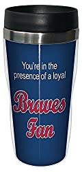 Tree-Free Greetings sg24078 Braves Baseball Fan Sip N Go Stainless Steel Lined Travel Tumbler 16-Ounce