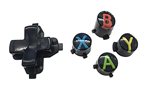 JYR Replacement ABXY Key Button + Cross Button set For