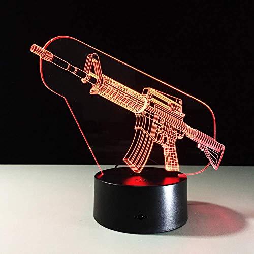 Kreative Illusion 3D Ak Gun LED Nachtlichter Lampara Escritorio Nachtlicht Batterie Nachtlicht Kinder Beleuchtung für unter Küchenschränke