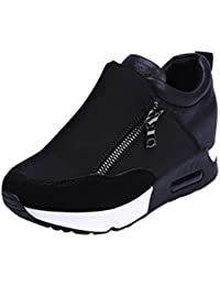 BESTOPPEN Womens Sneakers,Ladies Winter Slip On Sports Shoes Running Hiking Shoes Fashion Ankle Casual Shoes Biker Shoes Size 4-7.5