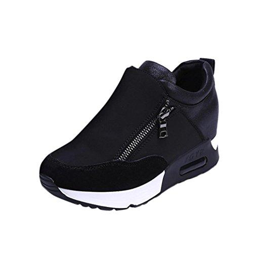 Coolcept Hombre Zapatos De Lona Zapatillas De Seguridad con Cordones (36 EU, Brown)