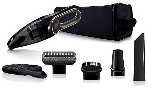 Philips FC6149/01 Autostaubsauger (Akku Handstaubsauger, beutellos, 12V NiMH, 11 Minuten Laufzeit, mit Zubehör Kit) schwarz