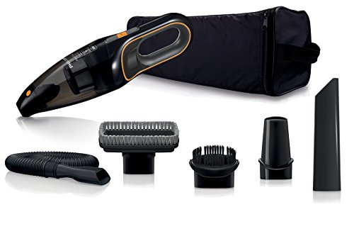 Philips MiniVac FC6149/01 - Aspiradora (Secar, 22 W, 840 l/min, 0,5 L, Negro, Naranja, 11 min)