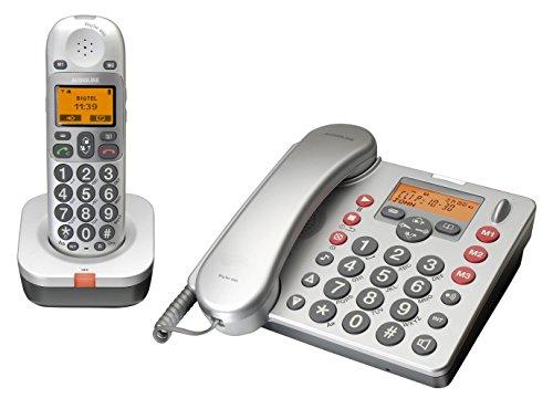 AUDIOLINE BigTel 480, Großtasten-Tischtelefon inkl. Mobilteil