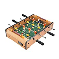 Mini table football, wooden indoor table football, double table football game, table football game, 34.5 * 21.5 * 8CM