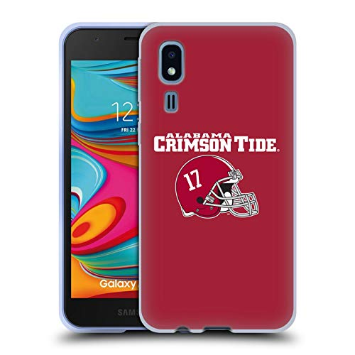 Head Case Designs Offizielle University of Alabama UA Helm Logo Typ Soft Gel Huelle kompatibel mit Samsung Galaxy A2 Core (2019)
