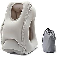 Baban Cuscino da viaggio/Cuscino da Collo Gonfiabile,Borsa OPP trasparente con un sacchetto di stoccaggio,facile da trasportare per aerei, automobili, scuole, uffici