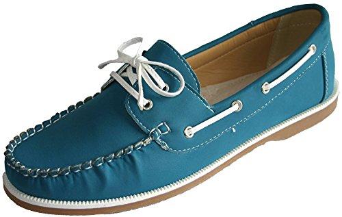 Mujer Coolers Nobuk Falso Mocasines Piel Con Cordones Zapatos Náuticos Tallas 4 - 8, Fuchsia/Beige/Khaki, 36.5