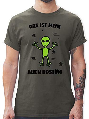 Karneval & Fasching - Das ist Mein Alien Kostüm - M - Dunkelgrau - L190 - Herren T-Shirt und Männer Tshirt