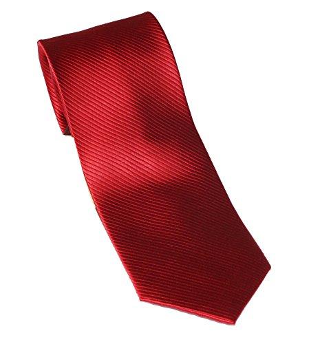 Rote Krawatte seide uni rot mit edler Struktur, 100% Seide, handgefertigt,sehr edel und elegant. Wunderschönes edles Design. Pietro Baldini