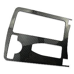 Volwco Carbon Armlehne Box Becherhalter Dekorative Abdeckung passend für Mercedes-Benz C-Klasse Limousine 2008-2013 Aufwertung der verhindert Kratzer - Mit selbstklebendem Klebeband grau