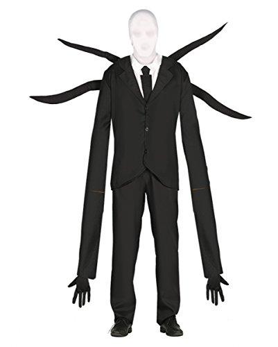 Creepy Slenderman Kostüm mit Mütze (Halloween Slenderman Kostüm)