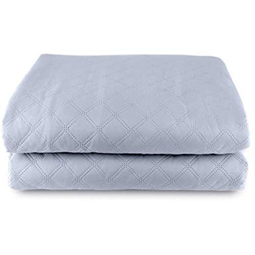 Creative Light Einfarbige Heizdecke, Heizdecke Kohlefaser Heizdraht Heizung über Temperatur automatische Abschaltung für Schlafsaal Schlafzimmer - grau (Grau Königin Heizdecke)
