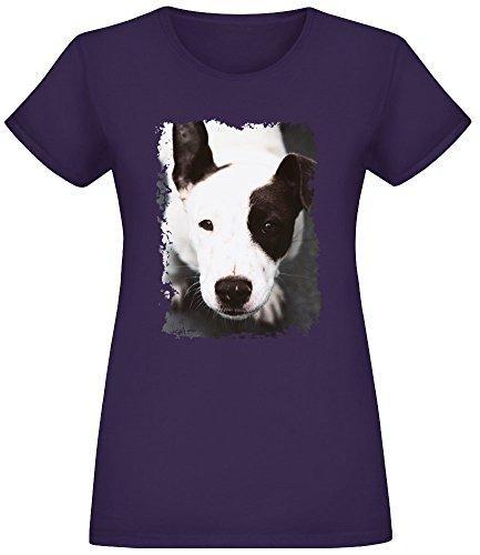 Niedliches Pitbull - Cute Pitbull T-Shirt Top Short Sleeve Jersey for Women 100% Soft Cotton Womens Clothing Medium