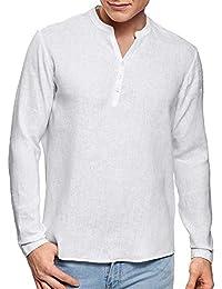 QK-Lannister T-Shirt Manica Lunga in Lino da Uomo Camicia A Maniche Ragazzo 06fcdff8e60