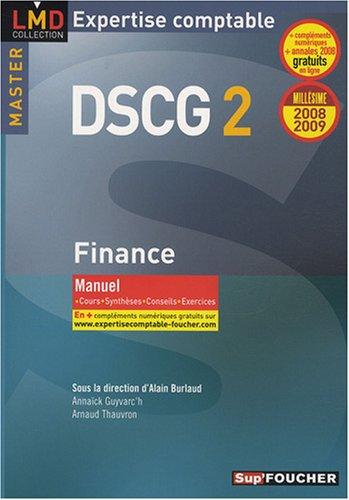 DSCG 2 Finance : Manuel 2008-2009 (Ancienne Edition)
