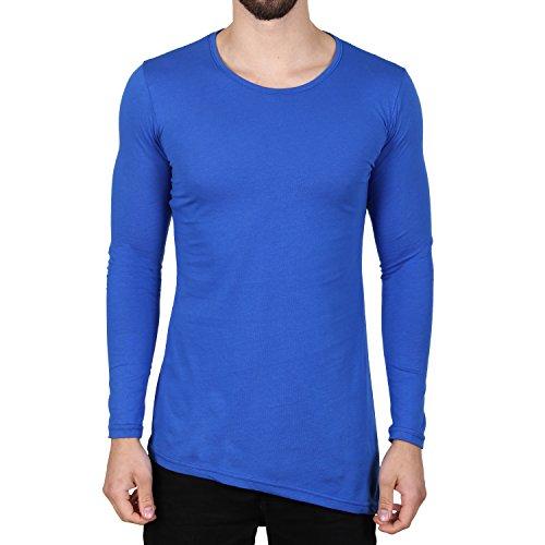 Ablanche Basic Oversize Langarmshirt Königsblau Königsblau