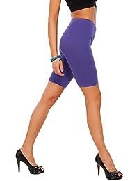 2abd6253445ae9 FUTURO FASHION Cotton Leggings 1/2 Length Over-Knee Shorts Active Sport  Casual Pants