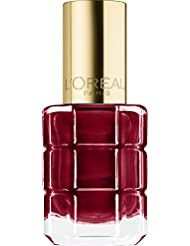 L'Oréal Paris Color Riche Le Vernis Nagellack mit Öl in Rot / Pflegender Farblack in Rotbraun mit Glanz-Effekt /# 554 Carmin Parisien / 1 x 14ml